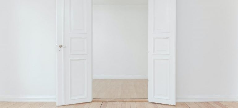 An empty room before arranging your furniture after the move