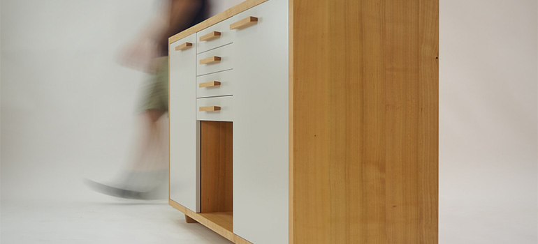 A wooden cabinet