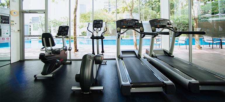 Treadmills and other cardio machines.