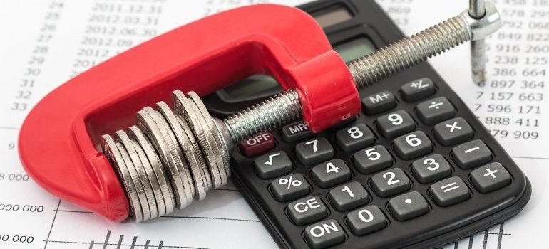 A calculator that you will use when deciding on your budget.