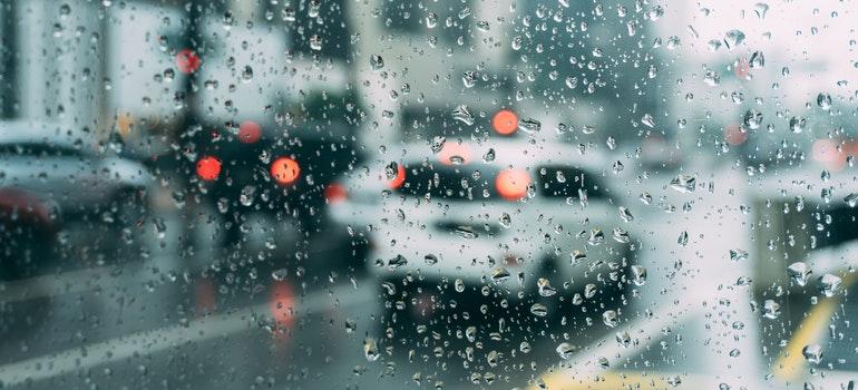 Rain falling in New Jersey.