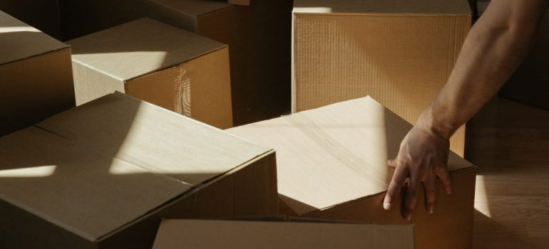 Boxes you will use while moving during the holidays.