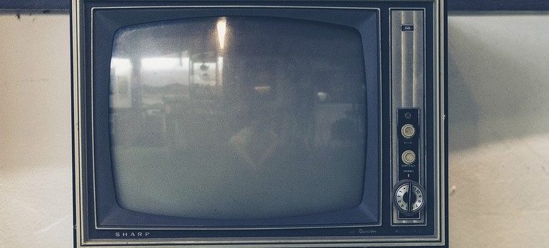 An old fashioned tv you should get rid of when cleaning out residential junk.