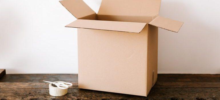An open box.