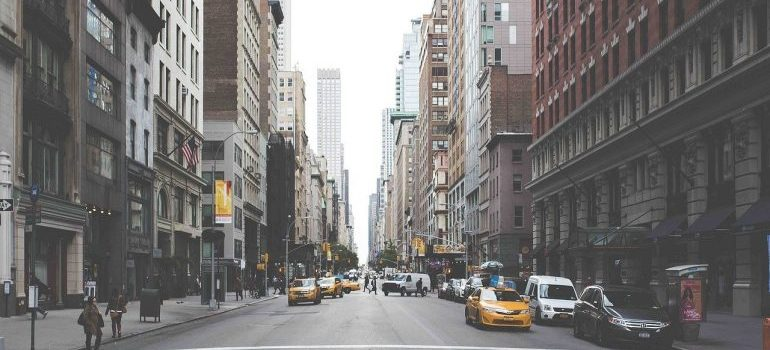 A street view of New York.