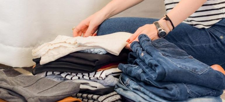 declutter first and decide what items you should leave behind when moving