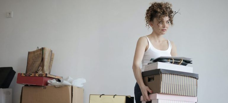 Decluttering Before your NJ Move like this woman is what you should do