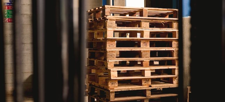 A row of pallets
