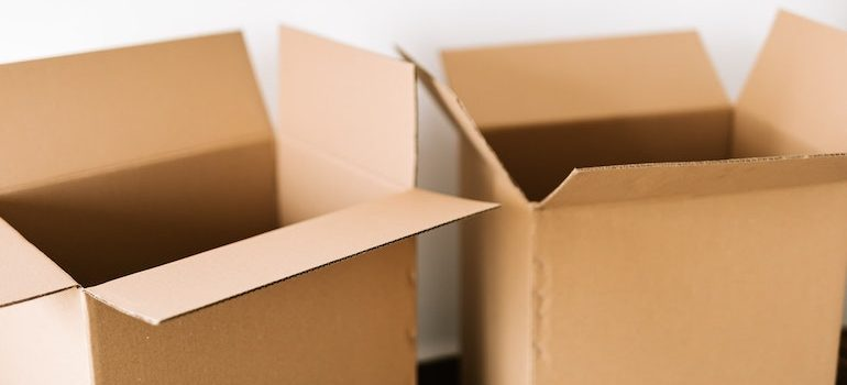 two open boxes
