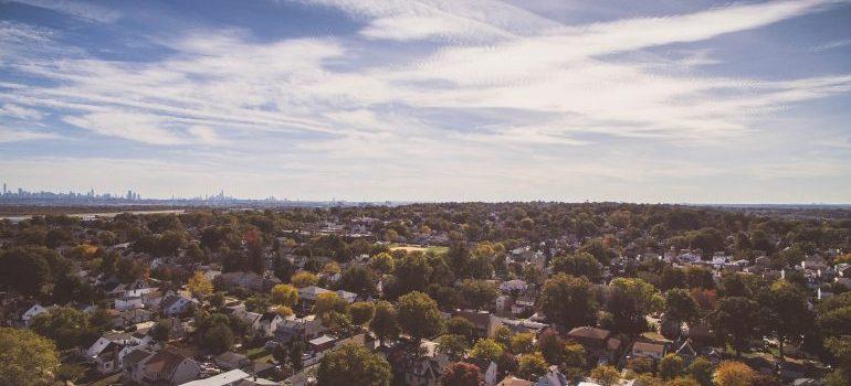 skyline of the suburbs