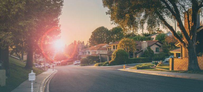 street in the suburbs