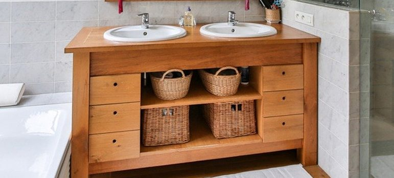 bathroom cabinets will help maximize space in every room of your small NJ home