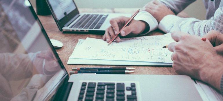 Businessmen planning